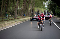 Team Ineos during the morning course reconnaissance <br /> <br /> Stage 2 (TTT): Brussels to Brussels(BEL/28km) <br /> 106th Tour de France 2019 (2.UWT)<br /> <br /> ©kramon
