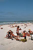 San Diego: Beach Party in Pacific Beach.  (Photo 1982)