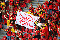 COPENHAGEN, DENMARK - JUNE 17 : Belgian fans during the 16th UEFA Euro 2020 Championship Group B match between Denmark and Belgium on June 17, 2021 in Copenhagen, Denmark, 17/06/2021  <br /> Photo Photonews / Panoramic / Insidefoto <br /> ITALY ONLY