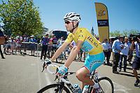 Vincenzo Nibali (ITA/Astana) to the start<br /> <br /> 2014 Tour de France<br /> stage 12: Bourg-en-Bresse - Saint-Etiènne (185km)