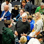 LOUISVILLE, KY - MAY 01: Late-arriving trainer Bob Baffert grins after morning line favorite Justify drew the 7d post during the Kentucky Derby Post Draw at Churchill Downs on May 1, 2018 in Louisville, Kentucky. (Photo by Scott Serio/Eclipse Sportswire/Getty Images)