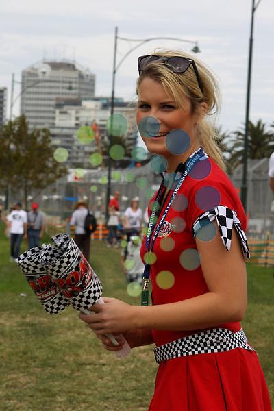 F1 GP of Australia, Melbourne 26. - 28. March 2010.Australien Grand Prix Impressions - Girls..Picture: Hasan Bratic/Universal News And Sport (Scotland).