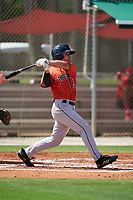 GCL Astros Colin Barber (15) at bat during a Gulf Coast League game against the GCL Cardinals on August 11, 2019 at Roger Dean Stadium Complex in Jupiter, Florida.  GCL Cardinals defeated the GCL Astros 2-1.  (Mike Janes/Four Seam Images)