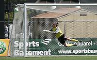 Kati Jo Spisak protects the goal.  Washington Freedom defeated FC Gold Pride 4-3 at Buck Shaw Stadium in Santa Clara, California on April 26, 2009.