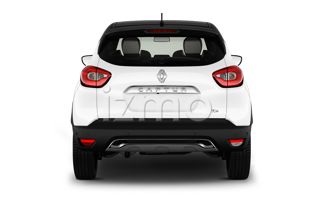 Straight rear view of 2017 Renault Capture Initiale-Paris 5 Door SUV Rear View  stock images