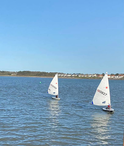 Ballyholme Laser sailors out for a sail on Belfast Lough