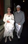 CARLA FRACCI CON IL MARITO BEPPE MENEGATTI<br /> INAUGURAZIONE BOUTIQUE ARMANI ROMA 2002