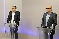 Campinas (SP), 19/11/2020 - Eleições/Debate - Os candidatos a prefeito da cidade de Campinas (SP), Dário Saadi (Republicanos) e Rafa Zimbaldi (PL) participam na noite desta quinta-feira (19) de um debate na sede da Band Campinas.