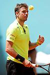 Roberto Bautista Agut, Spain, during Madrid Open Tennis 2016 match.May, 4, 2016.(ALTERPHOTOS/Acero)