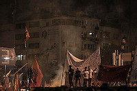In this Saturday, Jun. 08, 2013 photo, Protesters gather at night in Gezi park of Taksim Square during a 24/7 masive rally against the turkish government in Istanbul, Turkey. (Photo/Narciso Contreras).