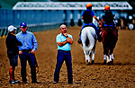 LOUISVILLE, KENTUCKY - APRIL 30: Trainer Norm Casse watches his horse train during Kentucky Derby and Oaks preparations at Churchill Downs on April 30, 2017 in Louisville, Kentucky. (Photo by Scott Serio/Eclipse Sportswire/Getty Images)