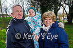 Little Sean Dalton with David and Jackie Tough in the Tralee town park on Saturday.