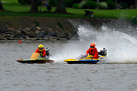 Frame 2: 300-P comes together with 911-Q, turns away and then is ejected from the boat.   (Outboard Hydroplanes)