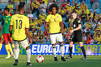 Colombia's Carlos Sanchez (r) and Yerri Mina during international friendly match. June 13,2017.(ALTERPHOTOS/Acero) (NortePhoto.com) (NortePhoto.com)