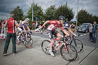 Pim Ligthart (NED/Lotto-Soudal) handed a musette in the feedzone<br /> <br /> 101st Kampioenschap van Vlaanderen 2016 (UCI 1.1)<br /> Koolskamp › Koolskamp (192.4km)