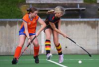 Waikato v Tauranga. 2021 National Women's Under-18 Hockey Tournament day three at National Hockey Stadium in Wellington, New Zealand on Tuesday, 13 July 2021. Photo: Dave Lintott / lintottphoto.co.nz https://bwmedia.photoshelter.com/gallery-collection/Under-18-Hockey-Nationals-2021/C0000T49v1kln8qk