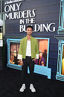 """NEW YORK CITY - AUG 24: Marquis Rodriguez attends the screening of Hulu's """"Only Murders in the Building"""" at The Greens at Pier 17 on August 24, 2021 in New York City. (Photo by Frank Micelotta/Hulu/PictureGroup)"""