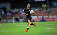 NZ's Kurt Baker runs in a try during men's pool match between New Zealand and USA. Day one of the 2020 HSBC World Sevens Series Hamilton at FMG Stadium in Hamilton, New Zealand on Saturday, 25 January 2020. Photo: Dave Lintott / lintottphoto.co.nz