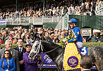 October 30, 2015 : Liam's Map, ridden by Javier Castellano, after winning the Las Vegas Breeders' Cup Dirt Mile (Grade I) at Keeneland Race Course in Lexington, Kentucky October 30, 2015.  Sophie Shore/ESW/CSM