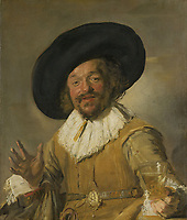 A Militiaman Holding a Berkemeyer, Known as the 'Merry Drinker', Frans Hals, c. 1628 - c. 1630