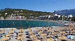 Spain, Mallorca, Port de Soller: view over beach | Spanien, Mallorca, Port de Soller: Strand