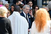 Alain DELON - ObsËques de MIREILLE DARC en l'Èglise Saint-Sulpice - 01/09/2017 - Paris, France