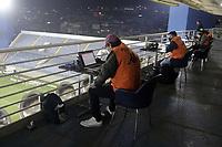 Barueri (SP), 04/08/2020 - Red Bull Bragantino - Guarani - Fotografos posicionados. Partida entre Red Bull Bragantino e Guarani valido pela final do Trofeu do Interior do Campeonato Paulista 2020, nesta terca-feira (04) na Arena Barueri, na cidade de Barueri (SP). (Foto: Denny Cesare/Codigo 19/Codigo 19)