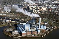 Heizkraftwerk Tiefstack und Müllverbrennungsanlage Borsigstrasse sowie AVG: EUROPA, DEUTSCHLAND, HAMBURG 09.02.2018: Heizkraftwerk Tiefstack und Müllverbrennungsanlage Borsigstrasse sowie AVG