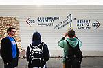 Naher Osten, Mittelmeer, Israel, geschlossener Grenzuebergang Rosh Hanikra, Grenzgebiet Israel Libanon, 3/2014<br />Engl.: Near East, Mediterranean Sea, Israel, closed border Israel - Lebanon, Rosh Hanikra, cliffs, coast, 3/2014