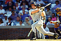 CHICAGO - CIRCA 1995:  Jeff Bagwell #5 of the Houston Astros bats during an MLB game at Wrigley Field in Chicago, Illinois. Bagwell played for 15 seasons, all with the Houston Astros, was a 4-time All-Star and was inducted to the Baseball Hall of Fame in 2017.(David Durochik / SportPics) --Jeff Bagwell