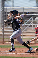 Chicago White Sox designated hitter Matt Rose (5) during a Minor League Spring Training game against the Cincinnati Reds at the Cincinnati Reds Training Complex on March 28, 2018 in Goodyear, Arizona. (Zachary Lucy/Four Seam Images)