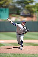 ***Temporary Unedited Reference File***Northwest Arkansas Naturals relief pitcher Andrew Edwards (34) during a game against the Springfield Cardinals on April 27, 2016 at Hammons Field in Springfield, Missouri.  Springfield defeated Northwest Arkansas 8-1.  (Mike Janes/Four Seam Images)