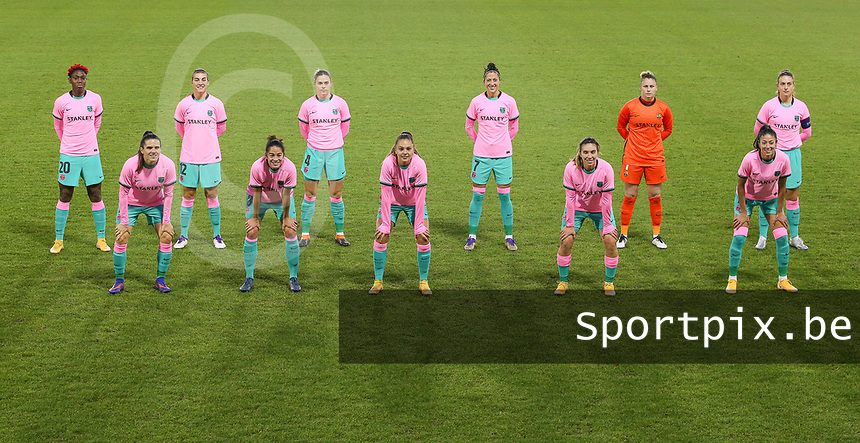 Barcelona team photo before a female soccer game between PSV Eindhoven Vrouwen and Barcelona, in the round of 32, 1st leg of Uefa Womens Champions League of the 2020 - 2021 season , Wednesday 9th of December 2020  in , Eindhoven, the Netherlands. PHOTO SPORTPIX.BE | SPP | SEVIL OKTEM