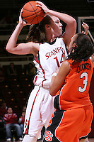 10 January 2008: Kayla Pedersen during Stanford's 81-45 win over Oregon State at Maples Pavilion in Stanford, CA.
