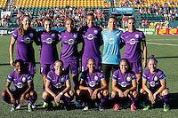 Rochester, NY - Saturday June 11, 2016: Orlando Pride starting XI during a regular season National Women's Soccer League (NWSL) match between the Western New York Flash and the Orlando Pride at Rochester Rhinos Stadium.