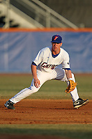 March 9, 2010:  Second Baseman Nolan Fontana (4) of the Florida Gators during a game at McKethan Stadium in Gainesville, FL.  (Mike Janes/Four Seam Images)
