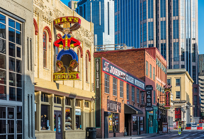 Johnny Cash Museum in downtown Nashville, Tennessee, USA