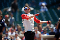 Tanner Witt during the home run derby before the Under Armour All-America Game, powered by Baseball Factory, on July 22, 2019 at Wrigley Field in Chicago, Illinois.  Tanner Witt attends Episcopal High School in Houston, Texas and is committed to the University of Texas.  (Mike Janes/Four Seam Images)