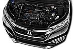 Car Stock 2015 Honda CR-V Elegance 5 Door SUV Engine  high angle detail view