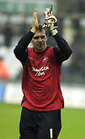 Pictured: Dorus de Vries of Swansea City <br /> Re: Coca Cola Championship, Swansea City Football Club v  Wolverhampton Wanderers at the Liberty Stadium, Swansea, south Wales 2008.