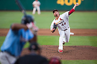 Anthony Ferrara (44) of the Springfield Cardinals delivers a pitch during a game against the Northwest Arkansas Naturals at Hammons Field on August 23, 2013 in Springfield, Missouri. (David Welker/Four Seam Images)