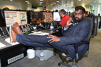 Romnesh Ranganathan<br /> on the trading floor for the BGC Charity Day 2016, Canary Wharf, London.<br /> <br /> <br /> ©Ash Knotek  D3152  12/09/2016