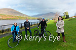 The outlook is bright for the Skellig Region as the South Kerry Greenway gets the go ahead pictured here at the Cahersiveen Park with the iconic Iron Bridge in the background on Sunday were l-r; Cllr Norma Moriarty, Eamon Casey, Jack Fitzpatrick(Cahersiveen Chamber Alliance) & Lisa O'Shea.