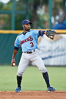 Tony Thomas of the  Tennessee Smokies during a game vs. the Jacksonville Suns July 10 2010 at Baseball Grounds of Jacksonville in Jacksonville, Florida. Photo By Scott Jontes/Four Seam Images