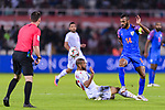 Pronay Halder of India (R) fights for the ball with Anirudh Thapa of India (L) during the AFC Asian Cup UAE 2019 Group A match between India (IND) and Bahrain (BHR) at Sharjah Stadium on 14 January 2019 in Sharjah, United Arab Emirates. Photo by Marcio Rodrigo Machado / Power Sport Images