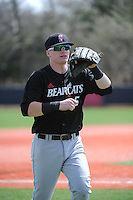 University of Cincinnati Bearcats outfielder Ian Happ (5) during a game against the Rutgers University Scarlet Knights at Bainton Field on April 19, 2014 in Piscataway, New Jersey. Rutgers defeated Cincinnati 4-1.  (Tomasso DeRosa/ Four Seam Images)