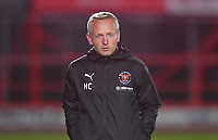 Blackpool's Manager Neil Critchley<br /> <br /> Photographer Dave Howarth/CameraSport<br /> <br /> EFL Trophy Northern Section Group G - Accrington Stanley v Blackpool - Tuesday 6th October 2020 - Crown Ground - Accrington<br />  <br /> World Copyright © 2020 CameraSport. All rights reserved. 43 Linden Ave. Countesthorpe. Leicester. England. LE8 5PG - Tel: +44 (0) 116 277 4147 - admin@camerasport.com - www.camerasport.com