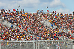 Fans in action during the Formula 1 Aramco United States Grand Prix practice session held at the Circuit of the Americas racetrack in Austin,Texas.