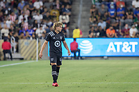 LOS ANGELES, CA - AUGUST 25: Cade Cowell #44 of the MLS All Stars during a game between Liga MX All Stars and MLS All Stars at Banc of California Stadium on August 25, 2021 in Los Angeles, California.