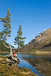 Austria, East-Tyrol, High Tauern National Park, Upper lake at Staller Sattel passroad connecting valley Defereggen with Valle d'Anterselva | Oesterreich, Osttirol, Nationalpark Hohe Tauern, Obersee am Staller Sattel, die Passstrasse verbindes das Defereggental mit dem Antholzertal in Suedtirol